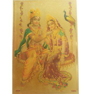 lamina-pan-de-oro-Radha-Krishna-columpio